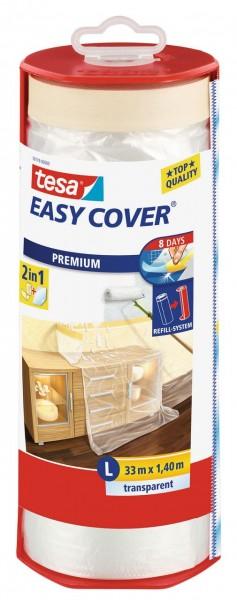 Tesa Easy Cover Premium L - Abdeckfolie 33 m x 1400 mm Abroller, gefüllt