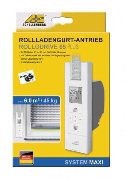 Schellenberg Rollladengurt-Antrieb Rollodrive 65 Plus mit Zeitautomatik für große Kunststoffrollläden