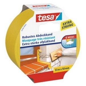 Tesa Robustes Abdeckband 33 m x 50 mm gelb