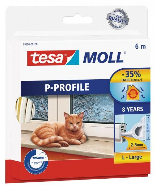 Tesamoll Classic P-Profil 6 m braun, für Spalten 2-5 mm