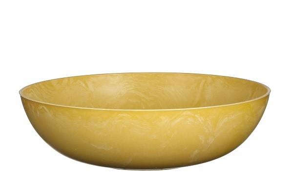 Mica Schale Mila 30cm gelb
