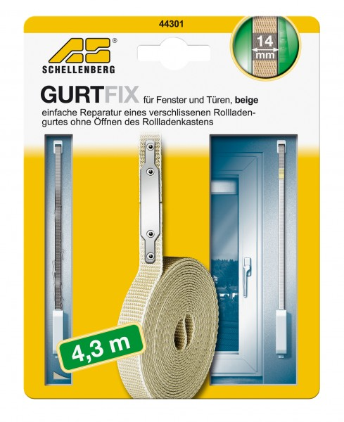 Gurtband Reparaturset 14 mm/4,3 m beige