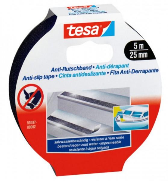 Tesa Anti Rutschband 5 m x 25 mm schwarz