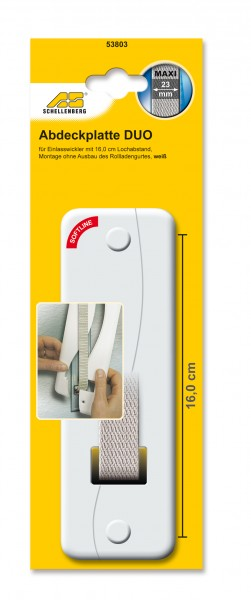Abdeckplatte 16,0 cm Lochabstand Soft-Line Maxi weiss