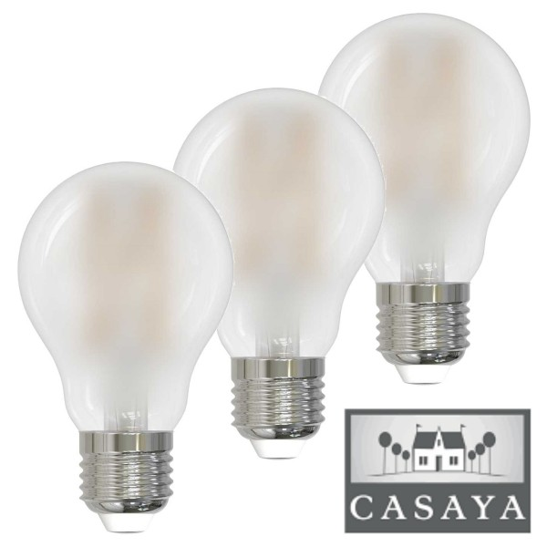 Casaya LED 3er Pack Birnenform matt 8W