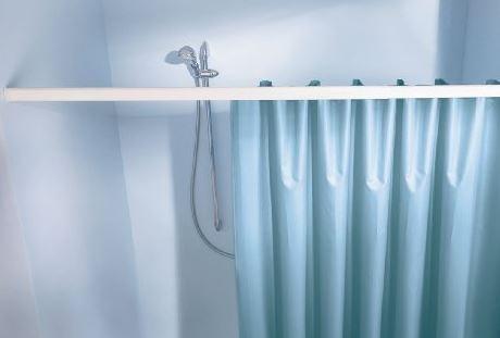 Federstange für Duschvorhang 75-125 cm 21 mm weiss