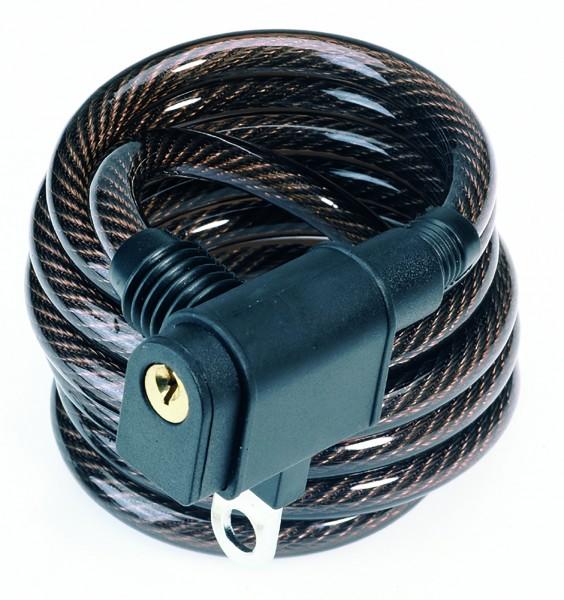 Spiralschloss mit Halter 150 cm/ 8 mm