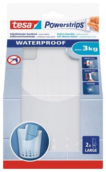Tesa Powerstrips Waterproof Korb klein