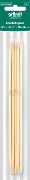Gründl Nadelspiel Bambus 3,00mm