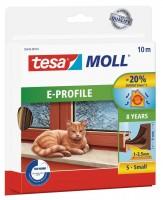Tesamoll Classic E-Profil 10 m braun, für Spalten 1-3,5 mm