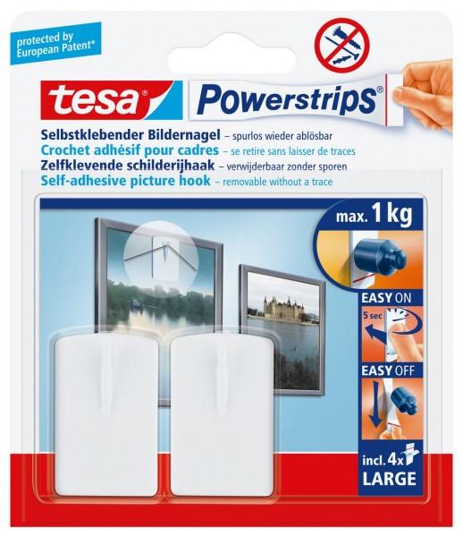 Tesa Powerstrips Bilder-Nagel weiss, max. 1Kg