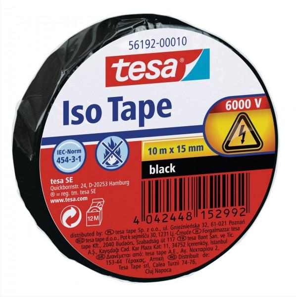 Tesa Isolierband 10 m x 15 mm schwarz