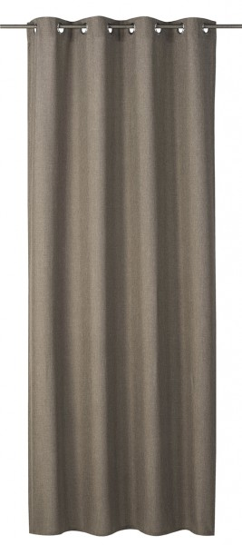 Elbersdrucke Ösenschal Lino braun 140x255cm