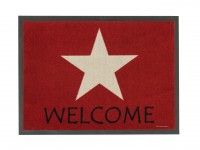 Astra Fußmatte Homelike Stern welcome rot