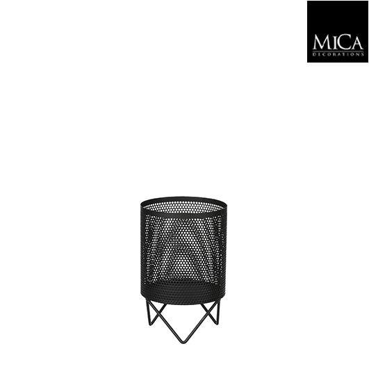 Mica Teelichthalter schwarz 8,5cm