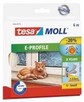 Tesamoll Classic E-Profil 6 m weiss, für Spalten 1-3,5 mm