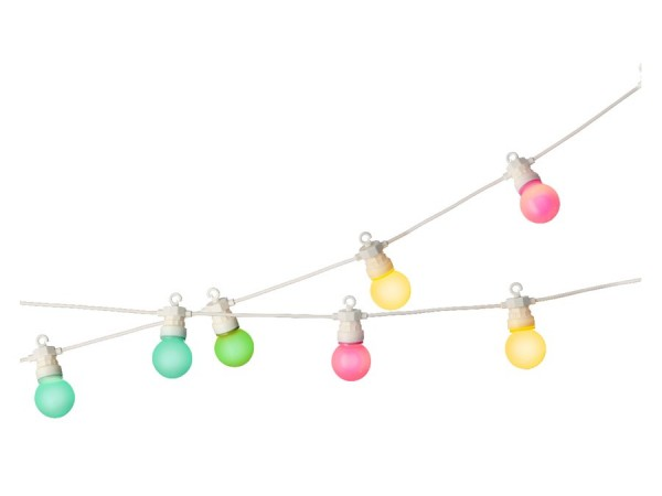 LED Partybeleuchtung pastell 950 cm-20L weiss/multi