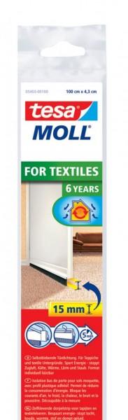 Tesamoll for Textiles Türdichtschiene 1 m x 43 mm weiss