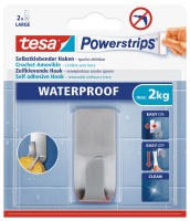 Tesa Powerstrips Waterproof Haken Zoom, Metall