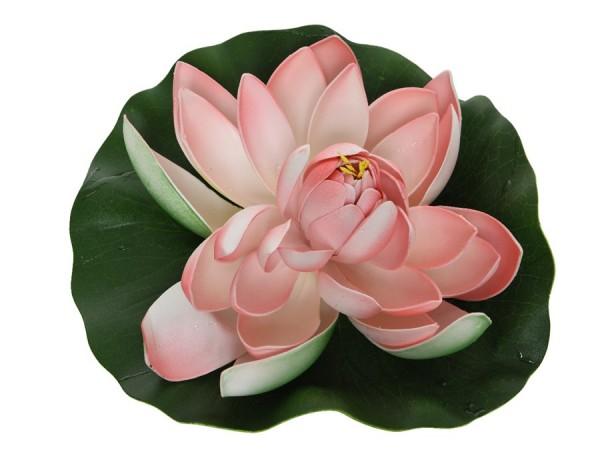 künstliche Seerose rosa
