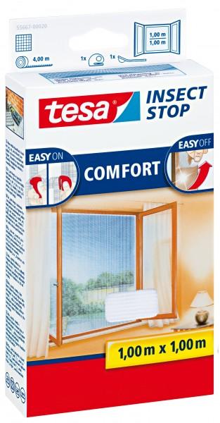 tesa Insect Stop Comfort Fliegengitter 1,0x1,0m weiß