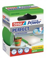 Tesa Extra Power Perfect Gewebeband 2,75 m x 38 mm grün