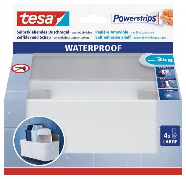 Tesa Powerstrips Waterproof Regal Zoom, Metall