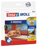 Tesamoll Classic P-Profil 10 m braun, für Spalten 2-5 mm