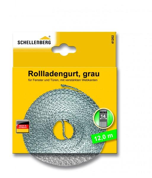Gurtband 14 mm/12,0 m Mini grau