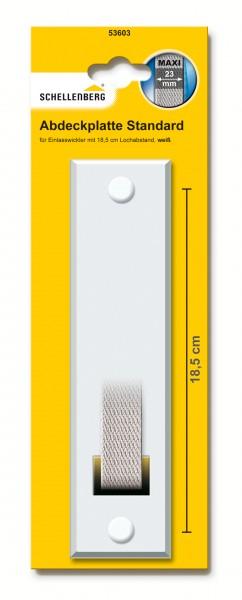 Abdeckplatte 18,5 cm Lochabstand Maxi weiss