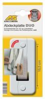 Abdeckplatte 10,5 cm Lochabstand Soft-Line Maxi weiss