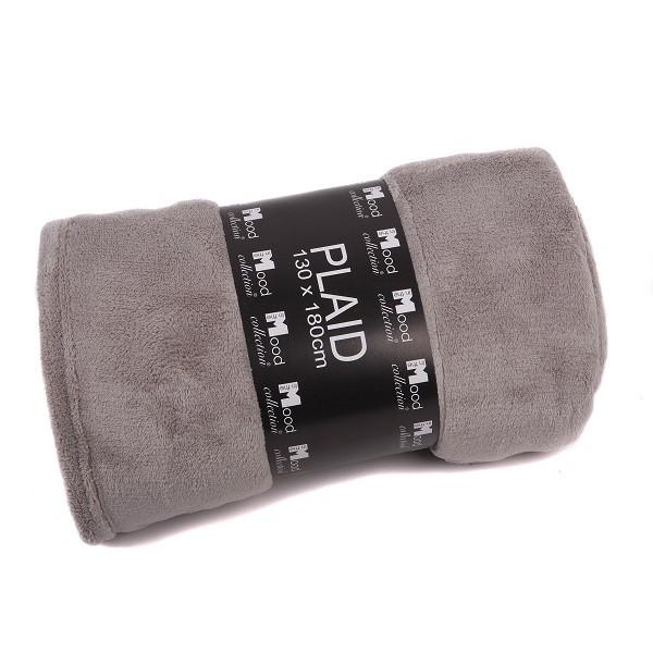 Fleece Decke 130x180cm kiesel