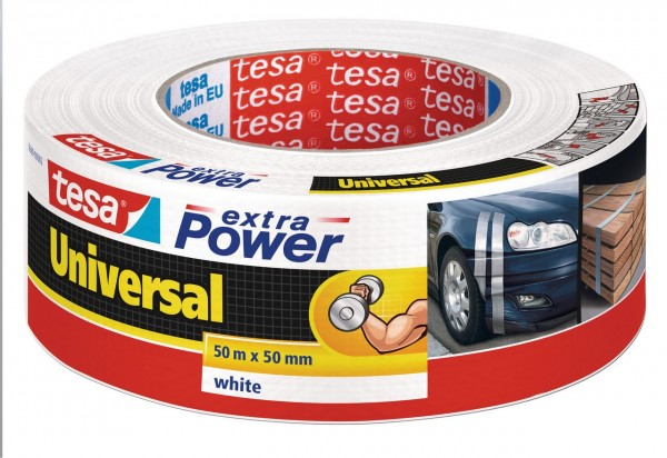 Tesa Extra Power universal 50 m x 50 mm weiss