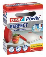 Tesa Extra Power Perfect Gewebeband 2,75 m x 19 mm rot