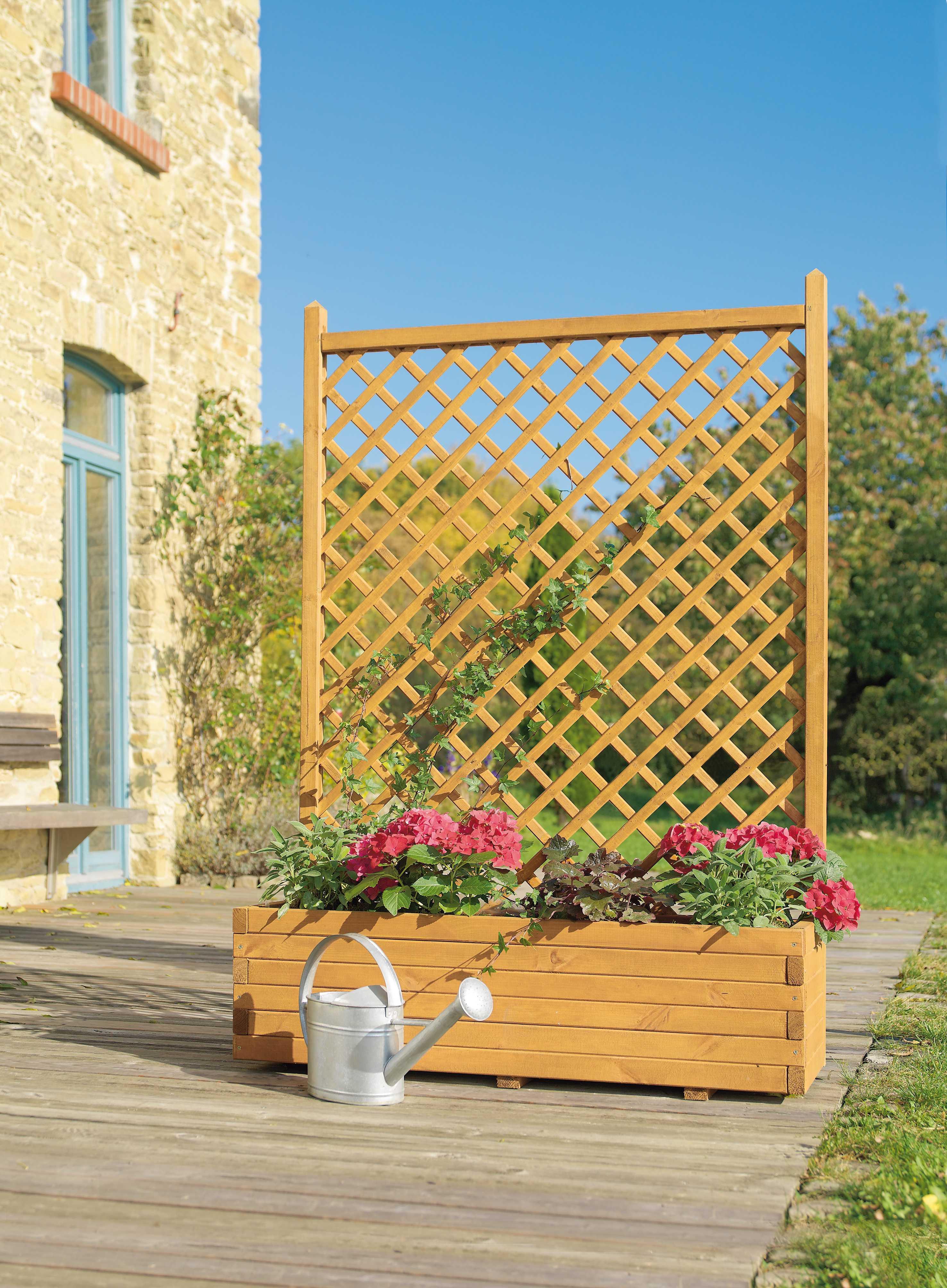 Mr Gardener Blumenkasten Mit Gitter Ca 120x40x170 Cm Kdi