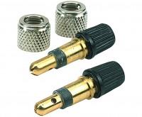 Patentventile Dunlop 2 St Überwurfmutter + 2 St Patenventil
