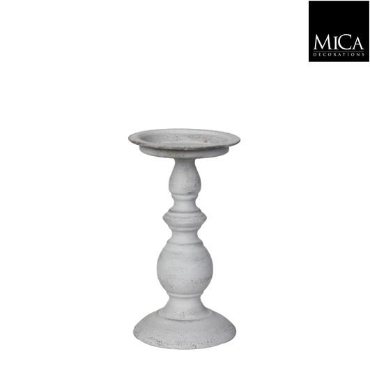 Mica Kerzenständer Tripoli weiß 20cm