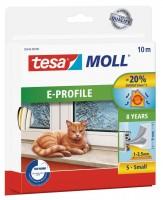 Tesamoll Classic E-Profil 10 m weiss, für Spalten 1-3,5 mm