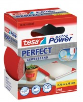 Tesa Extra Power Perfect Gewebeband 2,75 m x 38 mm rot