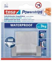 Tesa Powerstrips Waterproof Duohaken Zoom, Metall