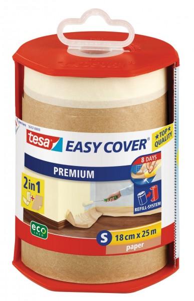 Tesa Easy Cover Premium S - Abdeckpapier 25 m x 180 mm Abroller, gefüllt