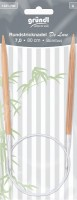 Gründl Rundstricknadel Bambus 80cm 7,0mm
