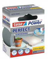 Tesa Extra Power Perfect Gewebeband 2,75 m x 38 mm grau
