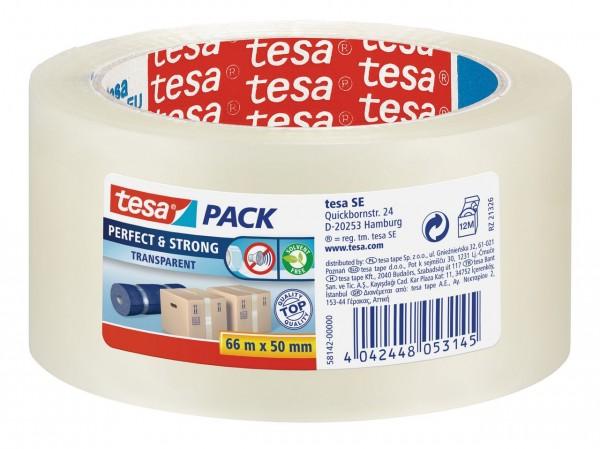 Tesapack Perfect + Strong 66 m x 50 mm transparent