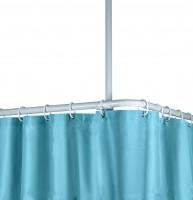 Deckenhalterstange für Duschvorhang 60 cm 25 mm weiss