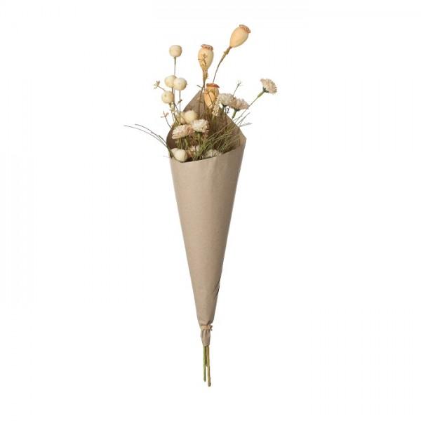 Mica Blumenstrauß beige Papier
