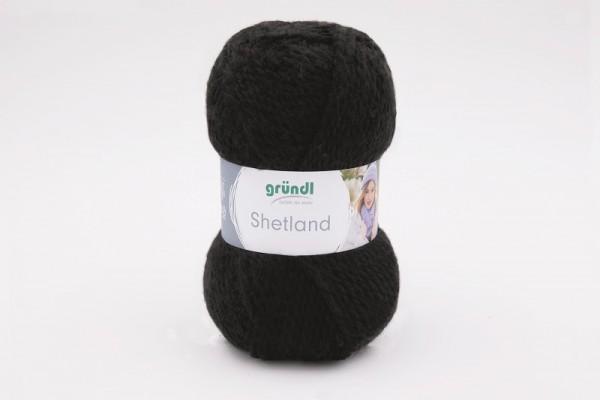 Gründl Strickgarn Shetland schwarz Knäuel