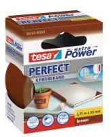 Tesa Extra Power Perfect Gewebeband 2,75 m x 38 mm braun