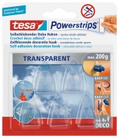 Tesa Powerstrips Deco-Haken transparent, 5 Haken, 8 Strips