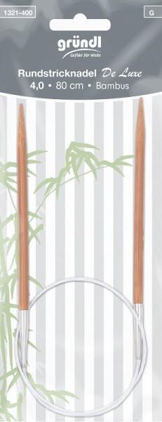 Gründl Rundstricknadel Bambus 80cm 4,00mm